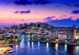 picturesque agios nikolaos town in the eastern of